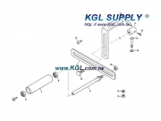 3501125 Rear Roller, Complete Set